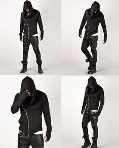 New fashion assassins creed hooded men hoodies causal sportswear male tracksuit sweatshirt Dark Fashion, New Fashion, Fashion Outfits, Steampunk Fashion, Fashion Wear, Gothic Fashion, Fashion Trends, Mens Fashion Suits, Mens Suits