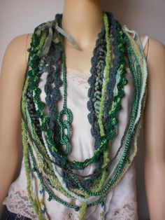 Crocheted Cowl Scarf - Find a pattern like this for later