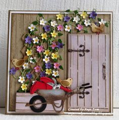Anja Zom kaartenblog Marianne Design Cards, Card Making Templates, Fancy Fold Cards, Quilling Designs, 3d Cards, Die Cut Cards, Birthday Cards For Men, Card Making Inspiration, Vines