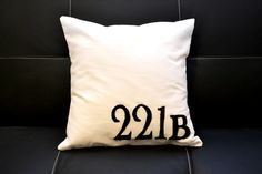 "Sherlock Holmes Inspired, ""221B"" Throw Pillow"