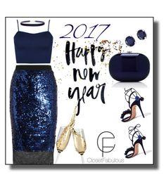 """No. 310 Happy New Year!!"" by closetfabulous on Polyvore featuring By Malene Birger, Aquazzura, Jeffrey Levinson, WearAll, Humble Chic, Effy Jewelry, 2017 and closetfabulous"