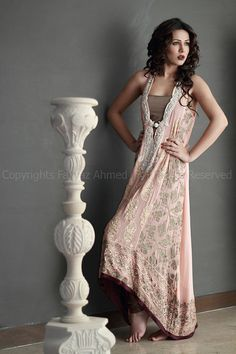 Design by Aysha Hashwani. Love the colors gold and pink