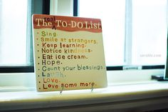 "I have had this in my kitchen for a long time, as my kids always complained that they had ""to do lists"" and so this was my kids list to start their day off~ while sitting breakfast table"