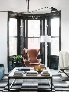 Interior Design | Pinterest | Attic, Apartments and Black window frames