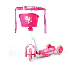 Pink Chromewheels Pixie Glidekick Scooter 3 Wheel Kick Scooter with Basket *** You can get additional details at the image link.