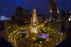 Downtown Indy's Circle of Lights