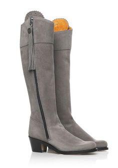The Heeled Regina - Suede Tassel Boot – FAIRFAX AND FAVOR