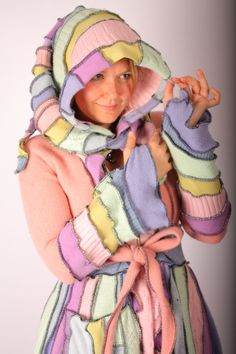 Recycled Sweater Circus Coat TUTORIAL by Katwise by katwise, $9.00