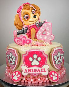 Paw patrol party for girls - Trend Today : Your source for the latest trends, exclusives & Inspirations Bolo Do Paw Patrol, Skye Paw Patrol Cake, Torta Paw Patrol, Paw Patrol Birthday Cake, Paw Patrol Party, Cake Disney, Cupcakes Decorados, Girl Cakes, Cute Cakes