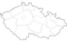 Slepá mapa ČR – Vzory ke stažení zdarma Silver, Jewelry, Biology, Jewlery, Jewerly, Schmuck, Jewels, Jewelery, Fine Jewelry