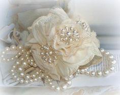 Pearl Wedding Cuff Bracelet Bridal Cuff Ivory by FancieStrands Bridal Cuff, Wedding Bracelet, Bridal Lace, Bridal Jewelry, Pearl Bridal, Vintage Lace Weddings, Pearl And Lace, Pearl Flower, Lace Cuffs