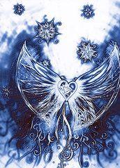 Angels Christian Art - Angel III  by Andrea Carroll