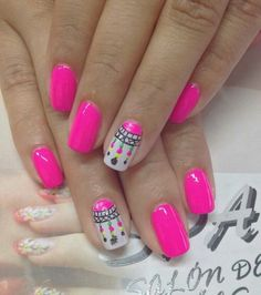 Say goodbye to the drying time, smudges, and streaks of liquid nail polish! Perfectly Polished Nail Polish Strips give you a beautiful manicure in minutes. Hot Nails, Pink Nails, Hair And Nails, Fabulous Nails, Perfect Nails, Indian Nails, Nails For Kids, Bright Nails, Bright Pink