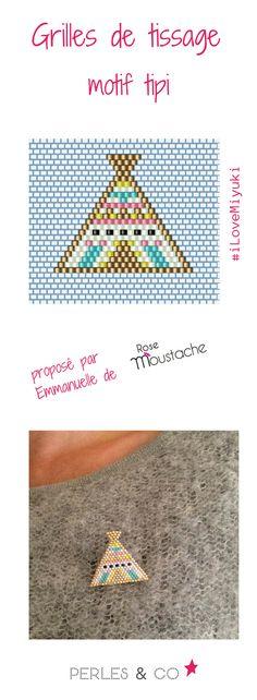 Créer une broche en tissage de perles avec le motif tipi, grâce à Emmanuelle du blog Rose Moustache >> https://www.perlesandco.com/Broche_en_perles_miyuki_motif_tipi_par_Rose_Moustache-s-2688-47.html