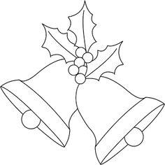 Christmas bells and holly digi stamp freebie