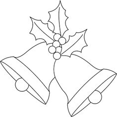 Christmas bells and holly digi stamp freebie. Please visit my blog for the proper size :)