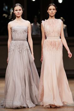 georges hobeika couture 2011 collection - the grey dress on the left