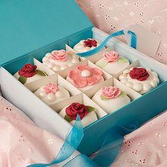 Rose And Pearl Cupcakes