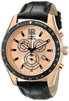 Gold watches :Gold watches for men Invicta