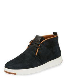 GrandPro Oiled Suede Chukka Sneaker, Black