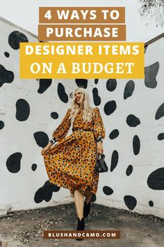 I'm sharing how to shop designer items (where their authenticity is guaranteed) without paying the designer price! #designerfashion #styletips #fashiontips #fashionblogger