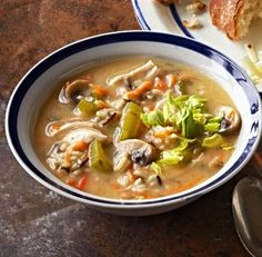 Wild Rice and Chicken Soup: If you don't have leftover chicken around, swap in a rotisserie chicken.  More wild rice recipes: http://www.midwestliving.com/food/fruits-veggies/wild-rice-recipes/page/11/0