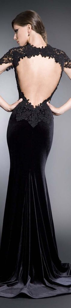 IN THE MOOD TO BE UNFORGETTABLE Colectie: IN THE MOOD / Rochie de seara #black #large #formal #dress #sexy #back <3