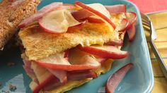 canadian bacon recipes | Apple-Canadian Bacon Omelet recipe from Pillsbury.com