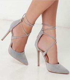 heels, shoes, grey