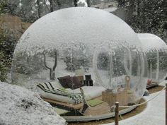 Attrap Reves – Bubble Hotel, France, This is a perfect place where you can sleep under the stars. Concept of sleeping in balloons are designed by French designer Pierre Stefan. Most Unique Hotel Designs in the World, http://hative.com/most-unique-hotel-designs-in-the-world/,