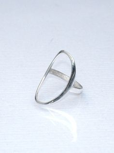 Fashion Ring  Minimal Ring  Open Oval Ring  by profoundgarden