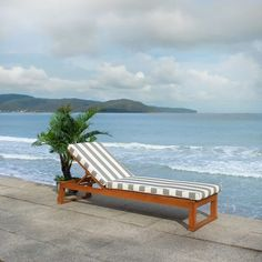 """SAFAVIEH Outdoor Living Solano Sunlounger - 24.8"""" x 80.9"""" x 37.4"""" - On Sale - Overstock - 11351124 - Natural/Grey Pool Furniture, Simple Furniture, Outdoor Furniture, Furniture Sets, Indoor Outdoor Rugs, Outdoor Seating, Outdoor Living, Rustic Outdoor, Sun Lounger Cushions"""