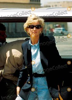 January 16, 1997:  Diana, Princess of Wales at Luanda airport in Angola following her visit to the country on behalf of the Red Cross.
