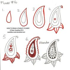 How to draw Paisley Flower 16 by *Quaddles-Roost