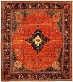Persian Rugs | AntiqueSarouk Farahan Persian Rug 43721 from Nazmiyal
