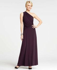 One Shoulder Jersey Gown Ann Taylor   $195
