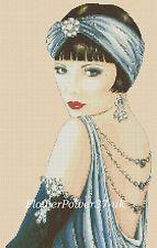 love the bob/ Art Deco Flapper Lady in Purple Dress - Cross Stitch Éphémères Vintage, Vintage Images, Vintage Ladies, Illustrations, Illustration Art, Art Nouveau, Art Deco Posters, Art Deco Design, Art Deco Fashion