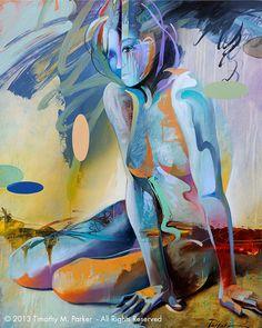 Cifras figura abstracta arte figura moderna pintura por FigureArt
