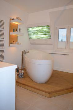 Holzboden im Badezimmer.... wunderbare Haptik für die Füße