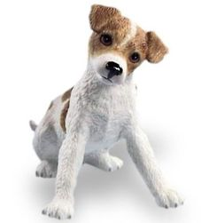 The Little Jack Russell Terrier Pup Figurine