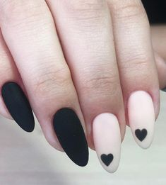 Nails spring Pretty & Easy Gel Nail Designs to Copy in 2019 - Styles Art Beautiful and Easy Gel Nail Design Copied in 2019 - Styles Art Heart Nail Designs, Winter Nail Designs, Fall Nail Designs, Nail Polish Designs, Nails Design, Matte Almond Nails, Matte Nails, Stiletto Nails, Acrylic Nails
