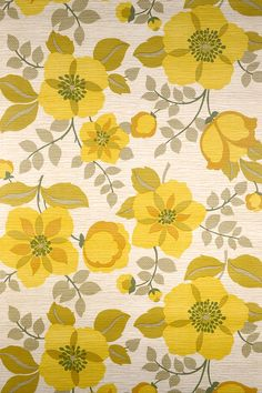 Retro Vintage Floral Wallpaper (vintagewallpapers)
