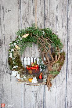 Door wreaths - door wreath autumn 8 - a unique product by Rotkopf-design at DaW ., Door wreaths - door wreath autumn 8 - a unique product by Rotkopf-design on DaWanda. Diy Spring Wreath, Autumn Wreaths, Diy Wreath, Christmas Wreaths, Halloween Mesh Wreaths, Deco Mesh Wreaths, Door Wreaths, Seasonal Decor, Fall Decor