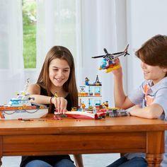 Lego : City Le QG des garde-côtes - Castello   Jeux et Jouets