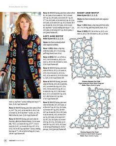ideas for crochet dress diagram charts granny squares Diy Crochet Cardigan, Gilet Crochet, Crochet Coat, Crochet Jacket, Crochet Shawl, Crochet Clothes, Pull Crochet, Hippie Crochet, Mode Crochet