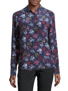 EQUIPMENT Brett Button Front Silk Shirt. #equipment #cloth #shirt