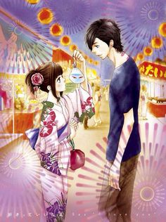 Mei & Yamato from the manga Say I Love You. Aww Mei looks so pretty