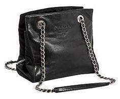 Borsa shopper in tela e pelle nera Gucci - 34x36x10 cm | BORSE ...