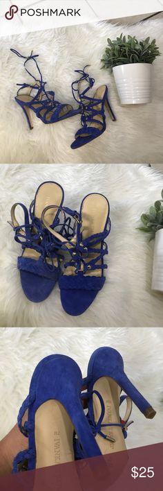 IVANKA TRUMP COBALT BLUE STRAPPY HEELS SHOES 6.5 Super cute heels Ivanka Trump Shoes