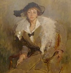 """""""Etude pour le portrait de la Comtesse Bavarewska"""" 1914 by Jacques-Emile BLANCHE (1861-1942)"""